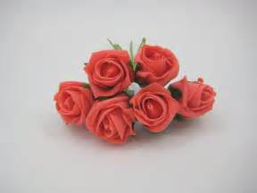 Rosebud 2cm jubilee rosebud 4cm in bright orange coral richards
