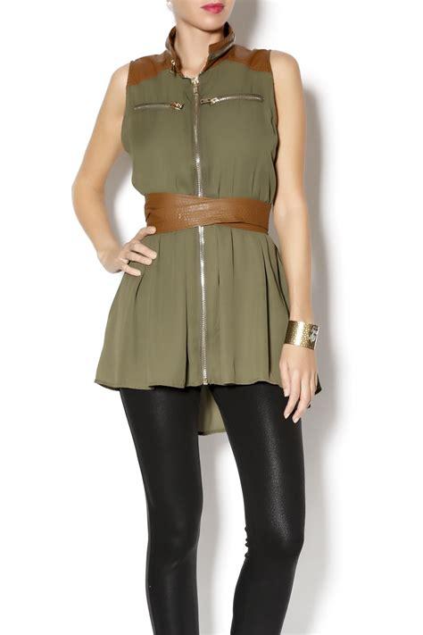 Vest Zipper Winner Is Coming Zero Clothing zero olive zipper vest from carolina by studio boutique shoptiques