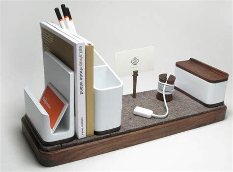 Designer Desk Accessories And Organizers Kaiju Studios I O Desk Organizer Notcot