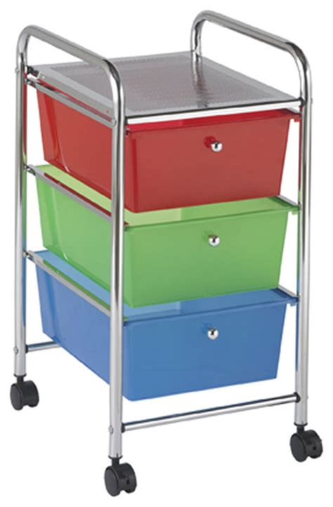Rolling File Cart With Drawers by Ecr4kids Preschool File Cart With 3 Drawer Rolling Mobile