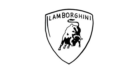 lamborghini logo black and white lamborghini logo transparent image 8