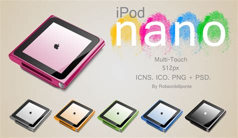 Ipod Nano Multi Touch ipod nano multi touch psd by robsonbillponte666 on