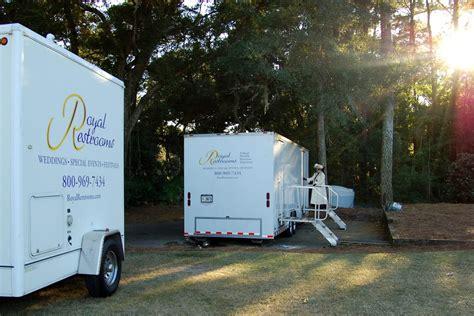 portable bathroom trailer event planning the portable restroom trailer royal