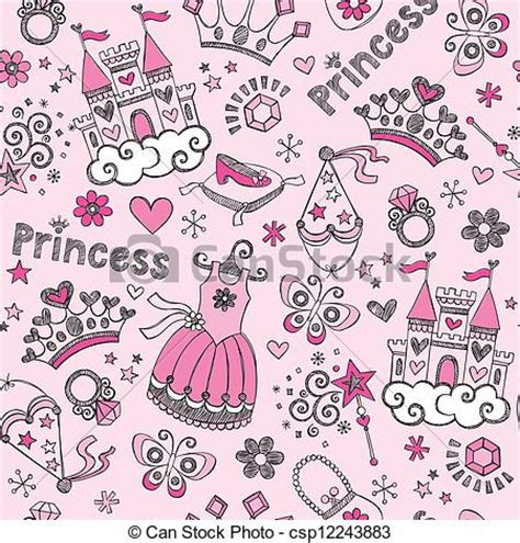 doodle doodle do the princess lost shoe vector of princess tiara doodles pattern tale