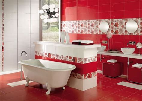 red and white bathroom red and white bathroom design