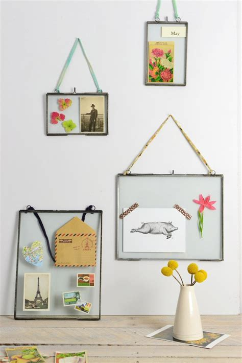 hanging picture double sided picture frame zinc metal photo frame