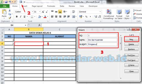 membuat database excel 2010 membuat form pengisian tabel data di excel 2007 cara