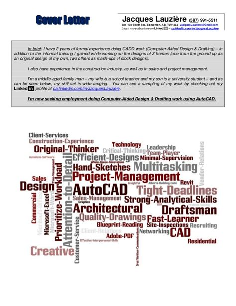Autocad Trainer Cover Letter by Autocad Cover Letter