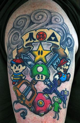 nintendo sleeve tattoo designs flickrfan stan