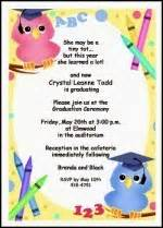 preschool kindergarten announcements invitations wordings for graduations create your own