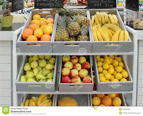 Organic Food Shelf by Organic Food Store Stock Photo Image 46425388