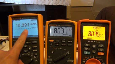 Multitester Fluke 87v agilent u1272a vs fluke 87 v display update speed