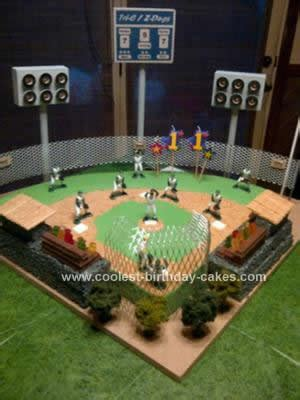 how to make a baseball field in your backyard awesome homemade baseball field birthday cake