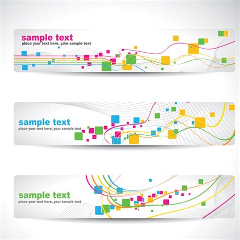 abstract design banners vector free download dynamic line banner banner vector background free vector