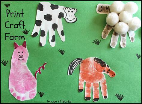 printable animal crafts print craft farm house farms and hand prints