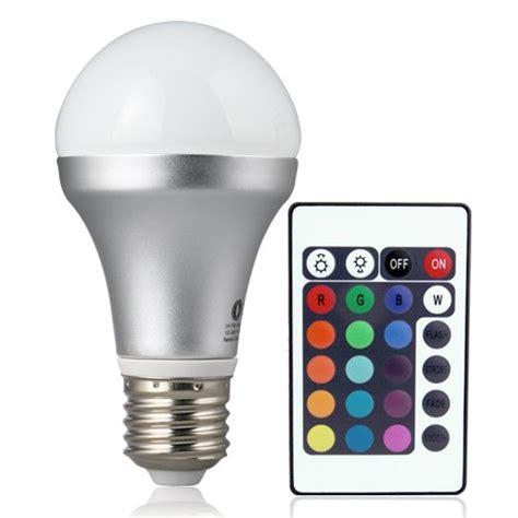 Led Color Changing Light Bulb Lighting Remote Controlled Color Changing Led Light Bulb 16 Color Choice Gadget Setter