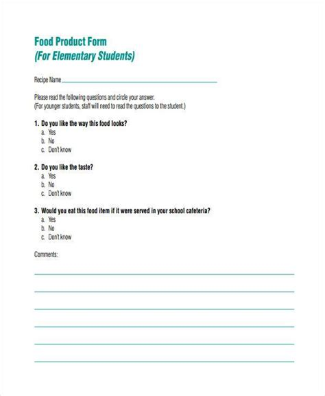 product feedback form template sle product feedback forms 9 free documents in word pdf