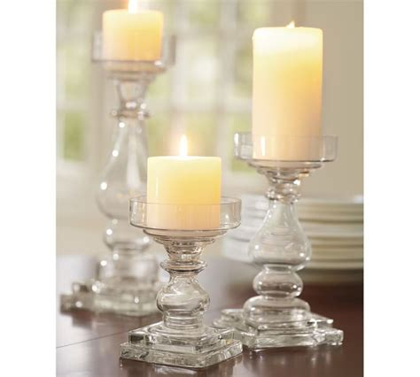Glass Pillar Candle Holders by Candle Holders Glass