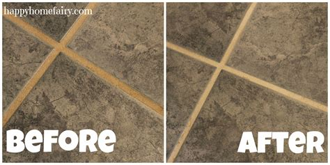 Grout Cleaning Before And After Cleaning Grout Secret Tip Happy Home