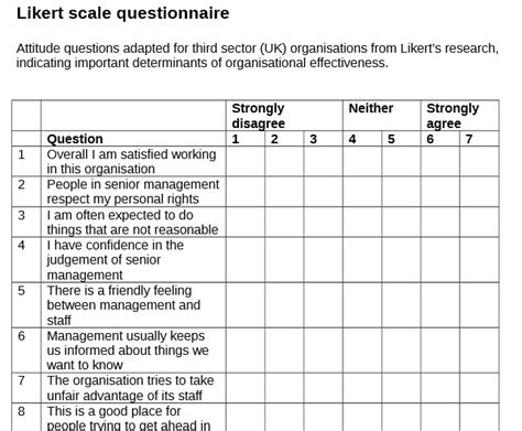 likert scale evaluation template likert scale evaluation template printable 40 likert scale