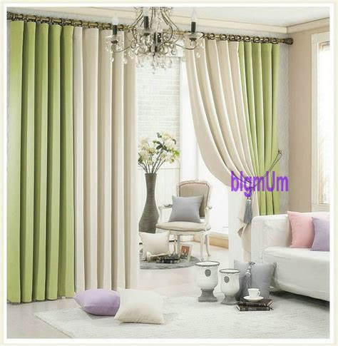 Beige And Green Curtains Decorating Aliexpress Buy Summer Style Linen Curtains For Living Room Blackout Curtain White