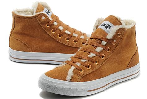 converse brown leather winter mens shoes
