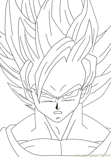 color goku coloring home