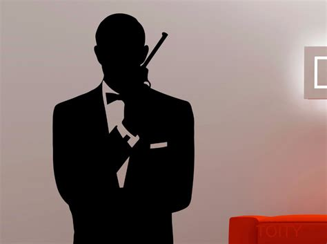 james bond silhouette aliexpress com buy james bond silhouette bust wall art