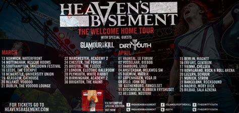 basement tour dates heaven s basement announce 2014 welcome home tour the