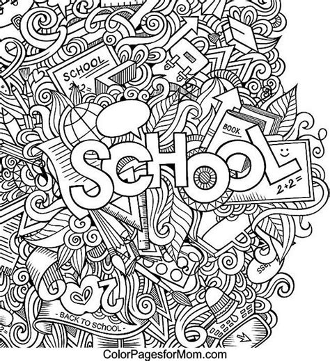 school doodle colouring bookmarks doodles 42 coloring page coloring pages pinterest