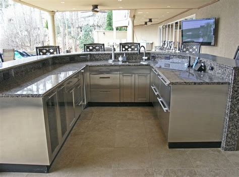 stainless outdoor kitchen outdoor stainless steel cabinetry