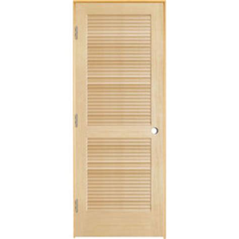 29 Inch Interior Door by Shop Reliabilt Louvered Solid Smooth Pine Right