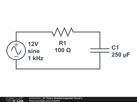 circuit of resistor and capacitor ac theory resistor capacitor circuit 1 circuitlab