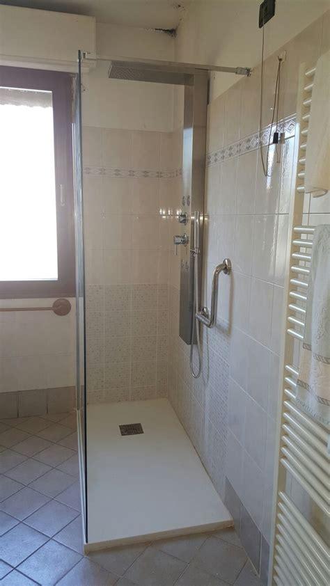 mosaico doccia interesting piatto ardesia bianco colonna doccia easy