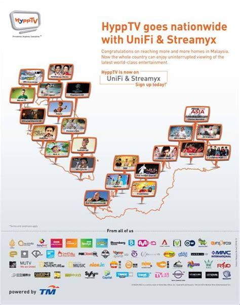 hypptv  nationwide  unifi  streamyx unifi