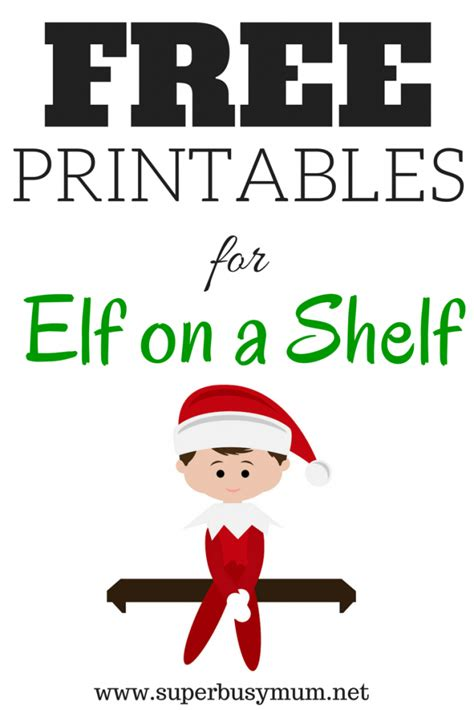 free printable elf on the shelf template free elf on a shelf printables super busy mum