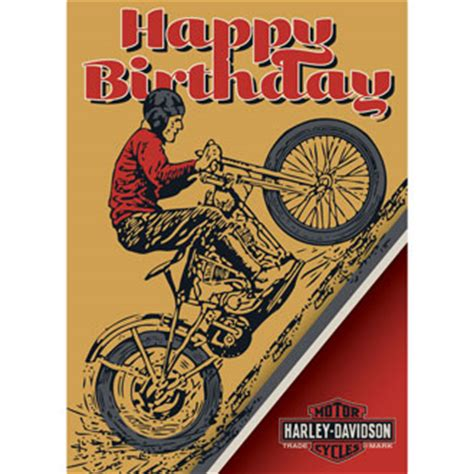 Harley Davidson Online Gift Card - card invitation design ideas harley davidson greeting cards rectangle potrait brown