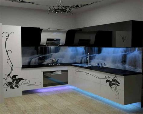 amazing kitchen ideas amazing kitchen design with cool cold blue neon lights matching the waterfalls artists of
