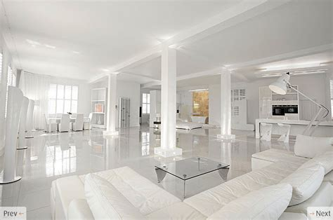 All White Home Interiors White Interior Design