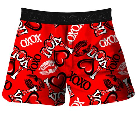 valentines day boxer boxer i you kisses valentines day boxer shorts