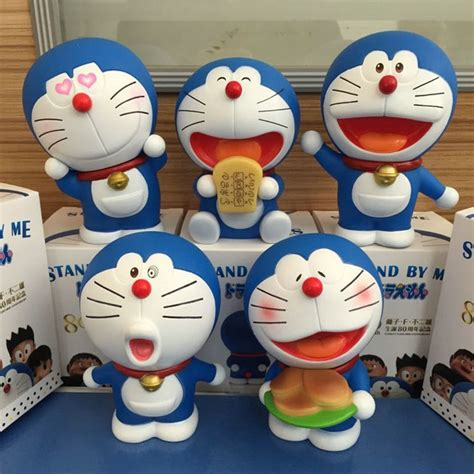 Doraemon Nobita 5pcs japanese anime figures doraemon 5pcs set car decoration