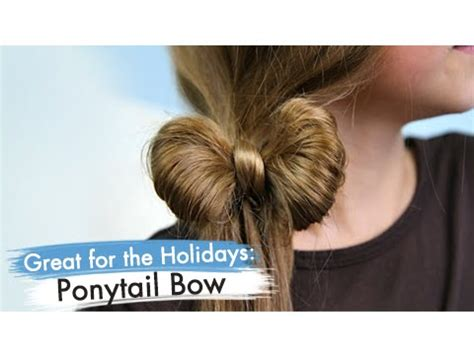 cute girl hairstyles youtube bow ponytail bow back to school cute girls hairstyles