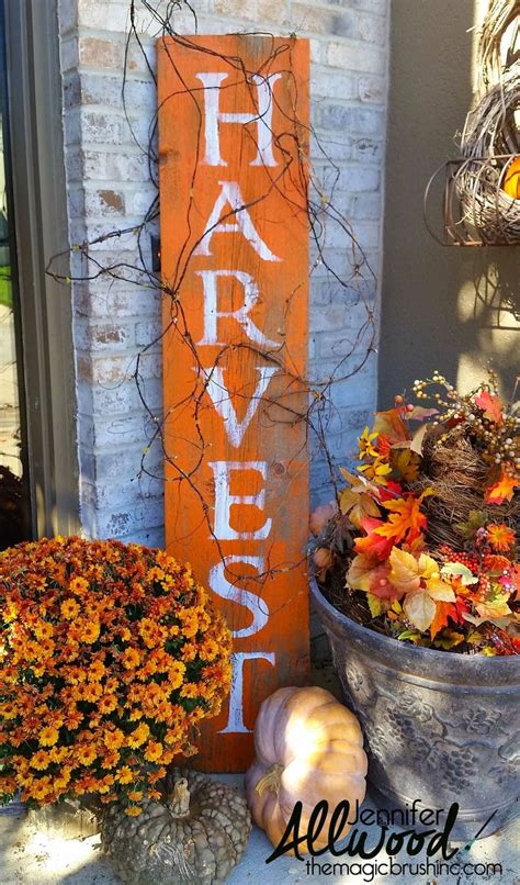 home made fall decorations hometalk harvest barnwood sign for fall