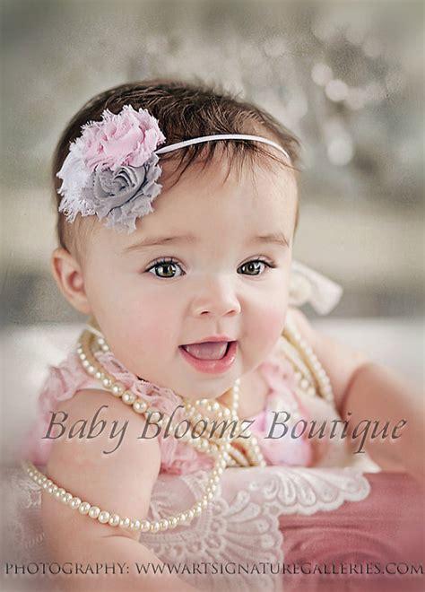 baby headband baby headband gray shabby by babybloomzboutique