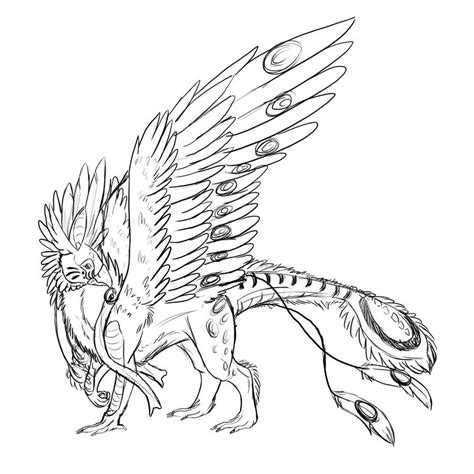 Pin Fantasy Griffin Colouring Pages On Pinterest Griffin Coloring Pages