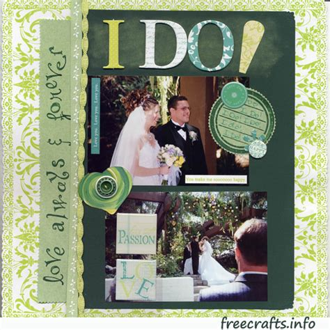 Wedding Scrapbooking Ideas by Wedding Scrapbook Layout Free Craft Ideas And