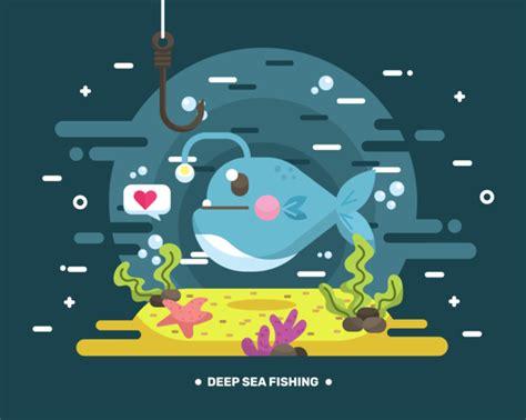 deep sea fishing boat vector deep sea fishing vector download free vector art stock