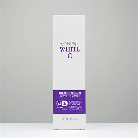 Etude Toning White C Essence 80ml etude house toning white c radiance emulsion review