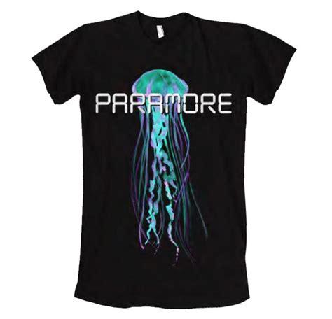 Paramore Black Shirt official t shirt paramore black logo digital jelly fish