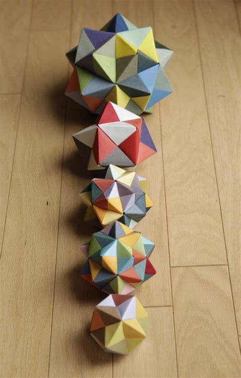 Modular Origami Octahedron - modular origami icosahedron octahedron cube math craft